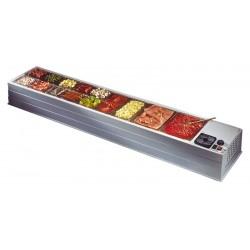 Επιτραπεζιο ψυγειο με 20 GN λεκανακια - maxi