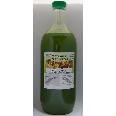 Σιροπι bubble tea πρασινο μηλο