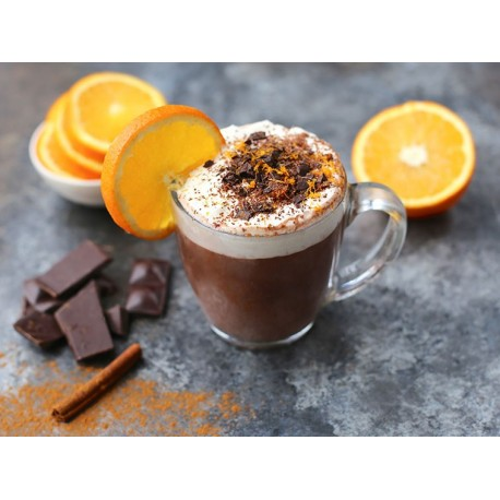 Ρόφημα σοκολάτας πορτοκαλι