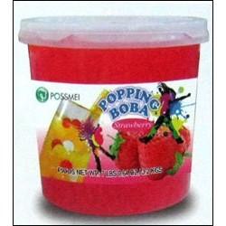 Φρουτενιες περλες bubble tea με γευση φράουλα / 3.2kg
