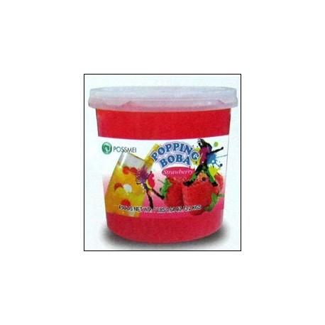 Φρουτενιες περλες bubble tea με γευση φράουλα