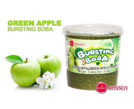Φρουτενιες περλες bubble tea με γευση πρασινο μηλο