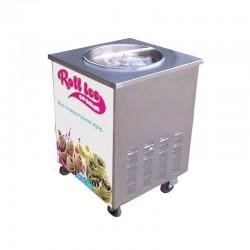 Ψυχομενη πλακα παγωτου - Roll ice cream - Στρογγυλη
