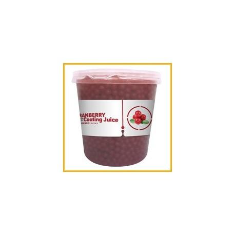 Φρουτενιες περλες bubble tea με γευση cranberry