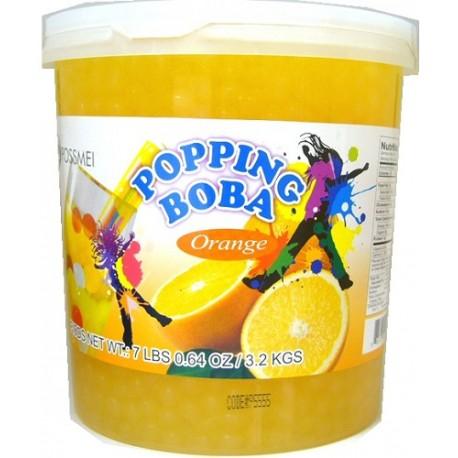 Φρουτενιες περλες bubble tea με γευση πορτοκαλι