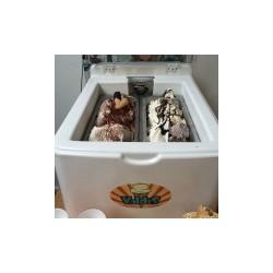 Επιτραπεζια βιτρινα παγωτου με 4 GN λεκανακια - piccolo